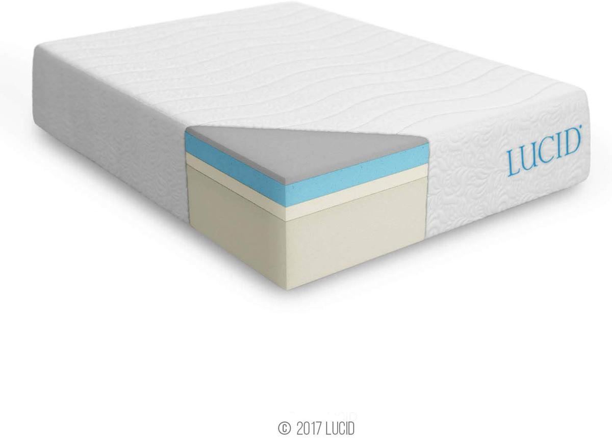 Lucid Plush Latex Bamboo Mattress