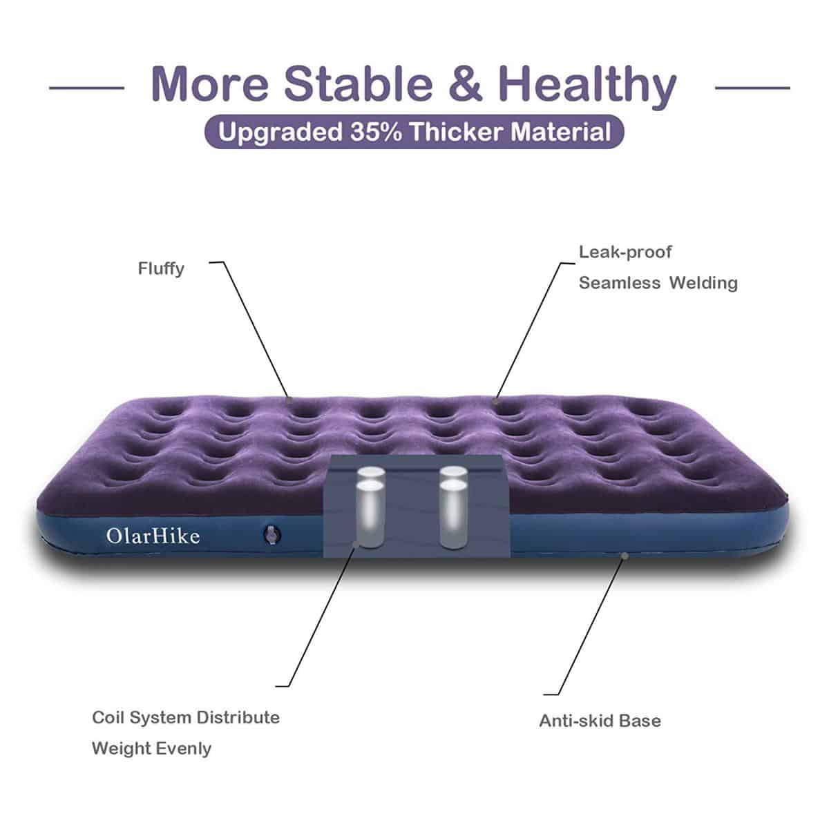 OlarHike TwinXL Camping Air Mattress